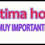 ÚLTIMA HORA - IMPORTANTE